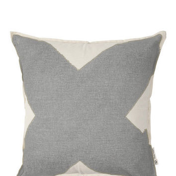 X Pillow Cover - Gray
