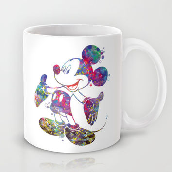 Mickey Mouse Watercolor Mug by Bitter Moon