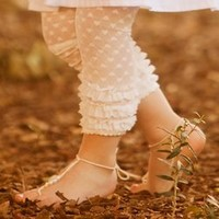 Huggalugs & BabyLegs - Trendy and Stylish Huggalugs for Boys and Girls - Huggaluggs Chantilly Cream Lacettes Large-LollipopMoon.com only $19.00 - Huggalugs, Baby Legs & Pork Chop Kids