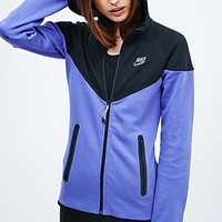 Nike Tech Zip Hoodie in Black and Purple - Urban Outfitters