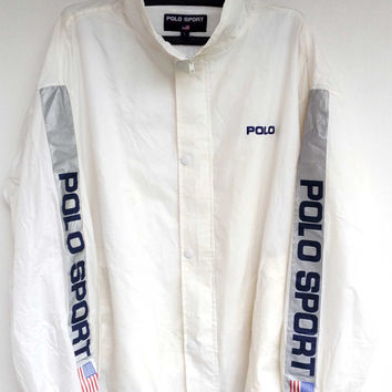 Vintage Polo Sport WindBreaker jacket Flag zipper up Big logo, Polo sport Ralph Lauren Vintage Polo Sport WindBreaker jacket