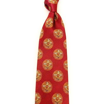 Pi Kappa Alpha Neck Tie in Garnet by Dogwood Black