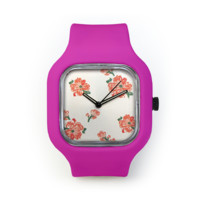 Summer Dress Watch in a Bright Pink Strap
