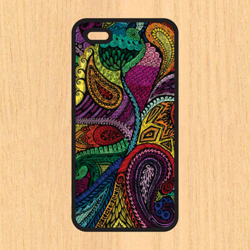 Paisley Print Design Art iPhone 4 / 4s / 5 / 5s / 5c /6 / 6s /6+ Apple Samsung Galaxy S3 / S4 / S5 / S6