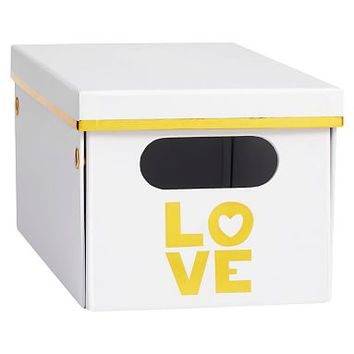 Love Printed Storage Bins