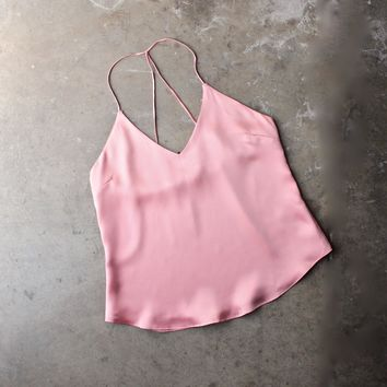 Muse Satin Camisole   Rose