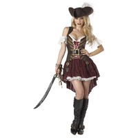 Swashbuckler Pirate Costume - Adult (Brown)
