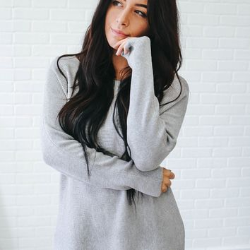Ease My Mind Sweater - Heather Grey