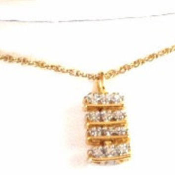 Diamond Journey Necklace - 14k Gold Chain - Diamond Necklace - Diamond Pendant - Mother Gift - Real Gold And Diamond Necklace - Gift Fir her