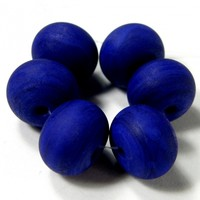 Opaque Dark Lapis Cobalt Blue Handmade Lampwork Glass Beads 246 Shiny (Choices of Etched, .999 Fine Silver, Shapes, Sizes, Large Hole Beads Extra)