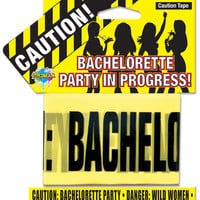 Pipedream Products Bachelorette Party Favors Caution Party Tape