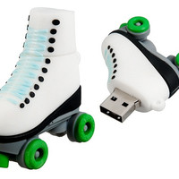 Roller Skate Shaped 8GB USB Flash Drive (Green)