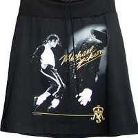 Michael Jackson Gold Tribute Printed Aline Skirt