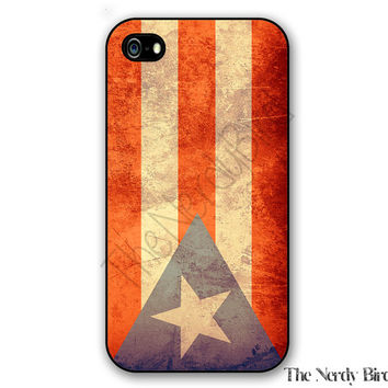 Grunge Flag of Puerto Rico iPhone 4, 5, 5C and 6 and Samsung Galaxy s3, s4, and s5 Phone Case