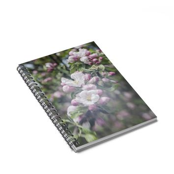 Apple Blossom - 128 Page Spiral Notebook