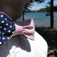 Self Tie American Flag Bow Tie-Ben's Speciality Collection