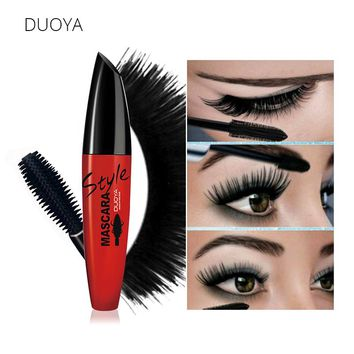 DUOYA 4D Silk Fiber Eyelash Mascara Volume Waterproof Lengthening Mascaras Black Natural Lash For 3D Eyes Cosmetic Brand Makeup
