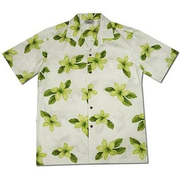 Delight Green Hawaiian Cotton Aloha Sport Shirt