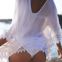 New Women Bikini Cover Up Lace Hollow Crochet Swim Suit Swimwear Beach Dress