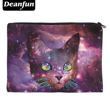 Deanfun Girls Simple Cosmetic Bags 3D Cat Printed Fashion Style for Travel Toiletry Storage 85015