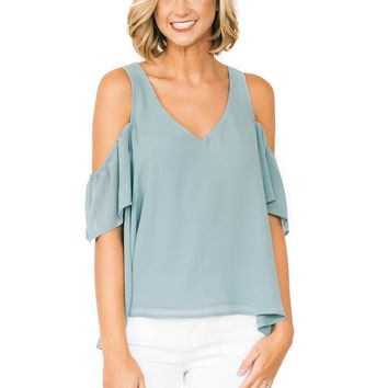 Poolside Hazel Ruffle Top