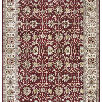 Rizzy Home Zenith ZH7059 Red Motif Area Rug