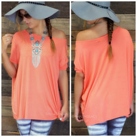 Boyfriend Piko Short Sleeve Dark Peach