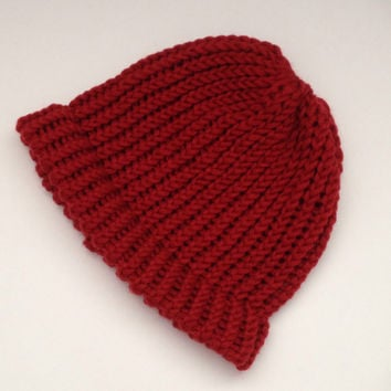 beanie, hats, knit beanie hats, knitted chunky hats, knitted bulky beanie, kids toques, womens hat, mens hats, burgundy beanies, winter hats