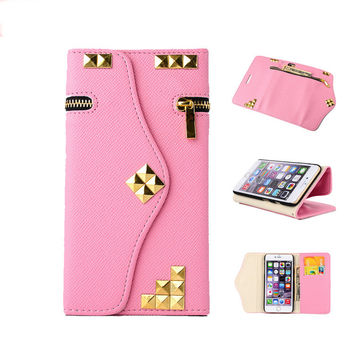 Stylish elegant PU leather wallet phone case for Iphone 6/6s/plus