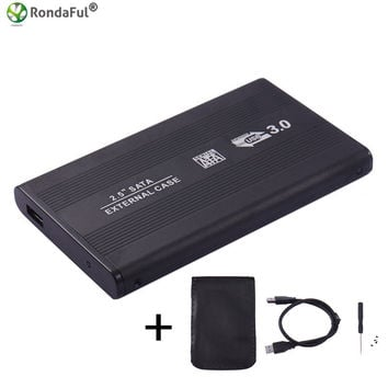 USB 3.0 HDD Hard Drive External Enclosure 2.5 inch SATA SSD Mobile Disk Box Cases laptop hard drive hdd caddy for Windows/Mac os