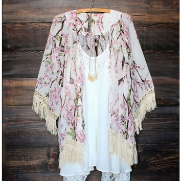 Sexy Women Vintage Boho Kaftan Cardigan Cover Up Dress Lace Kimono Beach Swimwear [8833545356]