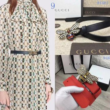 DCCK GUCCI Belt Top quality Women Fashion Jewellery Buckle Belt GG LOGO Leather Belt