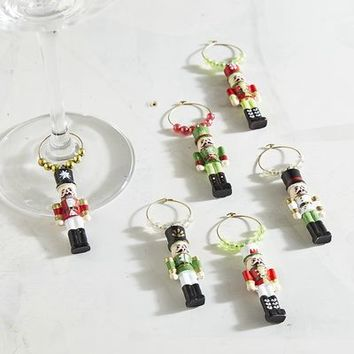 Nutcracker Wine Charm Set