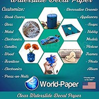 """Water Slide Decal Paper Sheets Transparent INKJET WHITE 8.5"""" x 11"""" 20 Sheets Pack"""