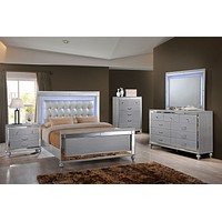 B9698 Valentino Silver Lighted Bedroom
