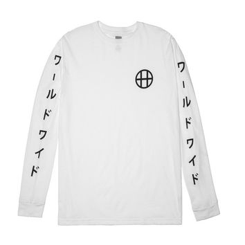 HUF - JAPAN WORLDWIDE L/S TEE // WHITE