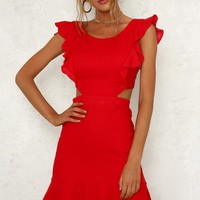 Waiting Forever Dress Red