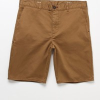 Bullhead Denim Co. Chino Tan Shorts - Mens Shorts - Brown