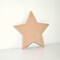 Unfinished Wooden Decor - Star Shape - Ready to paint or DIY!