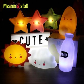 Meaningsfull Novelty Cloud Smile Face Led Night Light Sun Moon Star Night Lamps Bedroom Nursery Mini Lamps Kids Gift Home Decor