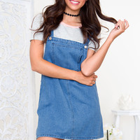 Maura Overall Dress - Denim