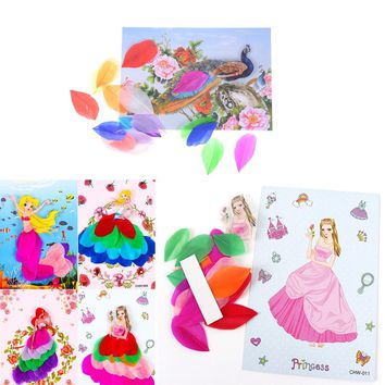 Cute DIY Feather painting Crafts Handmade Game Home Decor Kids Creative Toy