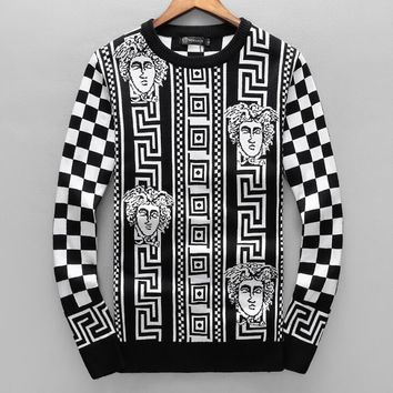 Versace Autumn Winter New Fashionable Women Men Casual Long Sleeve Warm Sweater Top Sweatshirt