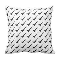 check mark pattern throw pillow