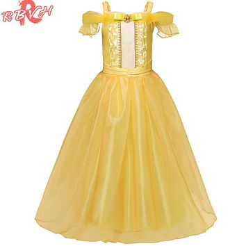Princess Dress For Girl Clothes Fancy Role-play Birthday Disguise Costume Children Clothing Girl 10 T Fancy Kids Party Vestiges