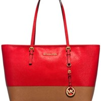MICHAEL Michael Kors Jet Set Travel Top Zip Tote | macys.com