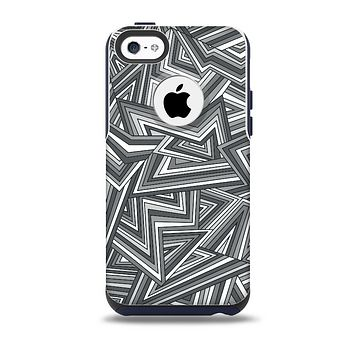 The Jagged Abstract Graytone Skin for the iPhone 5c OtterBox Commuter Case