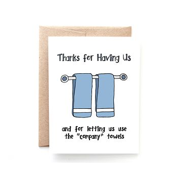 Yellow Daisy Paper Co. - Company Towels Thank You Card