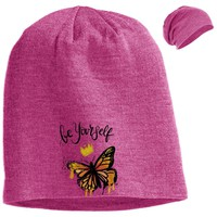 "Inspiring Butterfly Beanie - ""Be Yourself"""