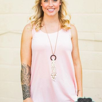 Dusty Pink Relaxed Fit Tank